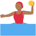 Woman Playing Water Polo: Medium-Dark Skin Tone on Twitter Twemoji 11.2