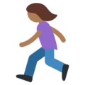 Woman Running: Medium-Dark Skin Tone on Twitter Twemoji 11.2