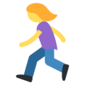 Woman Running on Twitter Twemoji 11.2