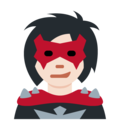 Woman Supervillain: Light Skin Tone on Twitter Twemoji 11.2