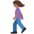 Woman Walking: Medium-Dark Skin Tone on Twitter Twemoji 11.2