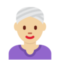 Woman Wearing Turban: Medium-Light Skin Tone on Twitter Twemoji 11.2