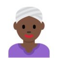 Woman Wearing Turban: Dark Skin Tone on Twitter Twemoji 11.2