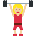Woman Lifting Weights: Medium-Light Skin Tone on Twitter Twemoji 11.2