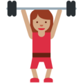 Woman Lifting Weights: Medium Skin Tone on Twitter Twemoji 11.2