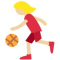 Woman Bouncing Ball: Medium-Light Skin Tone on Twitter Twemoji 11.2