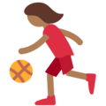 Woman Bouncing Ball: Medium-Dark Skin Tone on Twitter Twemoji 11.2