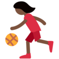 Woman Bouncing Ball: Dark Skin Tone on Twitter Twemoji 11.2