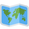 World Map on Twitter Twemoji 11.2