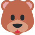 Bear Face on Twitter Twemoji 11.3