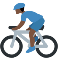 Person Biking: Dark Skin Tone on Twitter Twemoji 11.3