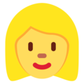 Woman: Blond Hair on Twitter Twemoji 11.3