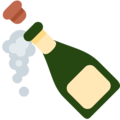 Bottle With Popping Cork on Twitter Twemoji 11.3