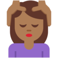 Person Getting Massage: Medium-Dark Skin Tone on Twitter Twemoji 11.3