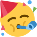 Partying Face on Twitter Twemoji 11.3