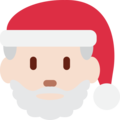 Santa Claus: Light Skin Tone on Twitter Twemoji 11.3