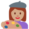 Woman Artist: Medium Skin Tone on Twitter Twemoji 11.3