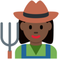 Woman Farmer: Dark Skin Tone on Twitter Twemoji 11.3