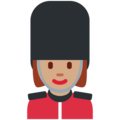 Woman Guard: Medium Skin Tone on Twitter Twemoji 11.3