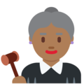Woman Judge: Medium-Dark Skin Tone on Twitter Twemoji 11.3