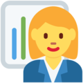 Woman Office Worker on Twitter Twemoji 11.3
