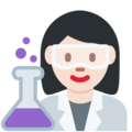 Woman Scientist: Light Skin Tone on Twitter Twemoji 11.3
