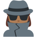 Woman Detective: Medium-Dark Skin Tone on Twitter Twemoji 11.3