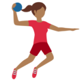Person Playing Handball: Medium-Dark Skin Tone on Twitter Twemoji 11.3