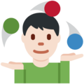 Person Juggling: Light Skin Tone on Twitter Twemoji 11.3