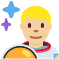 Man Astronaut: Medium-Light Skin Tone on Twitter Twemoji 11.3