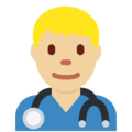 Man Health Worker: Medium-Light Skin Tone on Twitter Twemoji 11.3