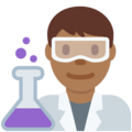 Man Scientist: Medium-Dark Skin Tone on Twitter Twemoji 11.3