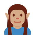 Man Elf: Medium Skin Tone on Twitter Twemoji 11.3