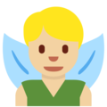 Man Fairy: Medium-Light Skin Tone on Twitter Twemoji 11.3