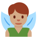 Man Fairy: Medium Skin Tone on Twitter Twemoji 11.3