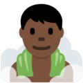 Man in Steamy Room: Dark Skin Tone on Twitter Twemoji 11.3