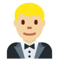 Man in Tuxedo: Medium-Light Skin Tone on Twitter Twemoji 11.3