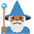 Man Mage: Medium-Dark Skin Tone on Twitter Twemoji 11.3