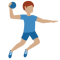 Man Playing Handball: Medium Skin Tone on Twitter Twemoji 11.3