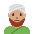 Man Wearing Turban: Medium Skin Tone on Twitter Twemoji 11.3
