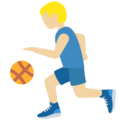 Man Bouncing Ball: Medium-Light Skin Tone on Twitter Twemoji 11.3