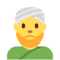 Person Wearing Turban on Twitter Twemoji 11.3