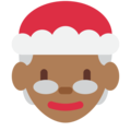 Mrs. Claus: Medium-Dark Skin Tone on Twitter Twemoji 11.3