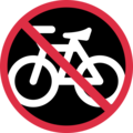 No Bicycles on Twitter Twemoji 11.3
