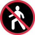 No Pedestrians on Twitter Twemoji 11.3