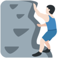Person Climbing: Light Skin Tone on Twitter Twemoji 11.3