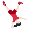 Person Cartwheeling: Light Skin Tone on Twitter Twemoji 11.3