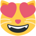 Smiling Cat Face With Heart-Eyes on Twitter Twemoji 11.3
