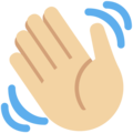 Waving Hand: Medium-Light Skin Tone on Twitter Twemoji 11.3