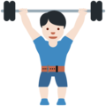 Person Lifting Weights: Light Skin Tone on Twitter Twemoji 11.3